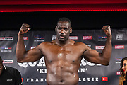 Patrice Quarteron of France during the official weighing Muay Thai Thai Boxing fight between Patrice Quarteron and Sean Tolouee on December 13, 2017 at AccorHotels Arena in Paris, France - Photo Pierre Charlier / ProSportsImages / DPPI