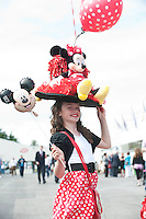 Kaite Dillon  from Galway who dressed up for the mad hatters day at the last day of the  Galway Races. Picture:Andrew Downes