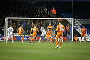 Burton Albion forward Lucas Akins (10) shoots towards the goal during the EFL Sky Bet League 1 match between Luton Town and Burton Albion at Kenilworth Road, Luton, England on 22 December 2018.