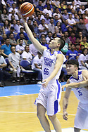 November 27, 2017 - Quezon City, NCR, Philippines - Kai-Yan Lee (66) of Chinese Taipei soars for an open lay-up during thier FIBA World Cup Qualifiers against the Philippines..Gilas Pilipinas defeated the visiting Chinese Taipei team 90-83 to complete a sweep of their first two assignments in the FIBA 2019 World Cup qualifiers. (Credit Image: © Dennis Jerome S. Acosta/Pacific Press via ZUMA Wire)