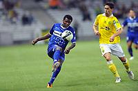 FOOTBALL - FRENCH CHAMPIONSHIP 2011/2012 - L2 - FC NANTES v SC BASTIA - 05/08/2011 - PHOTO PASCAL ALLEE / DPPI - ABDOULAYE DIALLO (BAS) / OLIVIER VEIGNEAU (FCN)