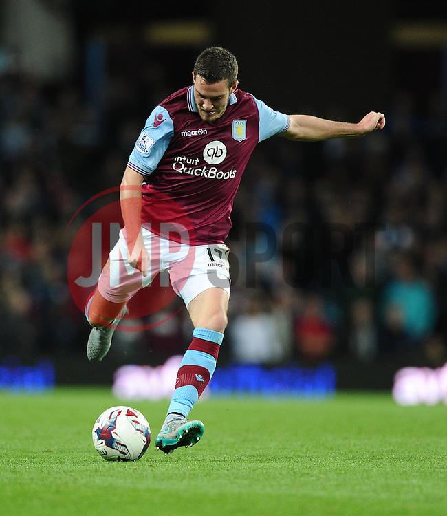 Jordan Veretout of Aston Villa Shoots  - Mandatory byline: Joe Meredith/JMP - 07966386802 - 25/08/2015 - FOOTBALL - Villa Park -Birmingham,England - Aston Villa v Notts County - Capital One Cup - Second Round