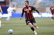 15 December 2013: Maryland's Jereme Raley. The University of Maryland Terripans played the University of Notre Dame Fighting Irish at PPL Park in Chester, Pennsylvania in a 2013 NCAA Division I Men's College Cup championship match. Notre Dame won the game 2-1.