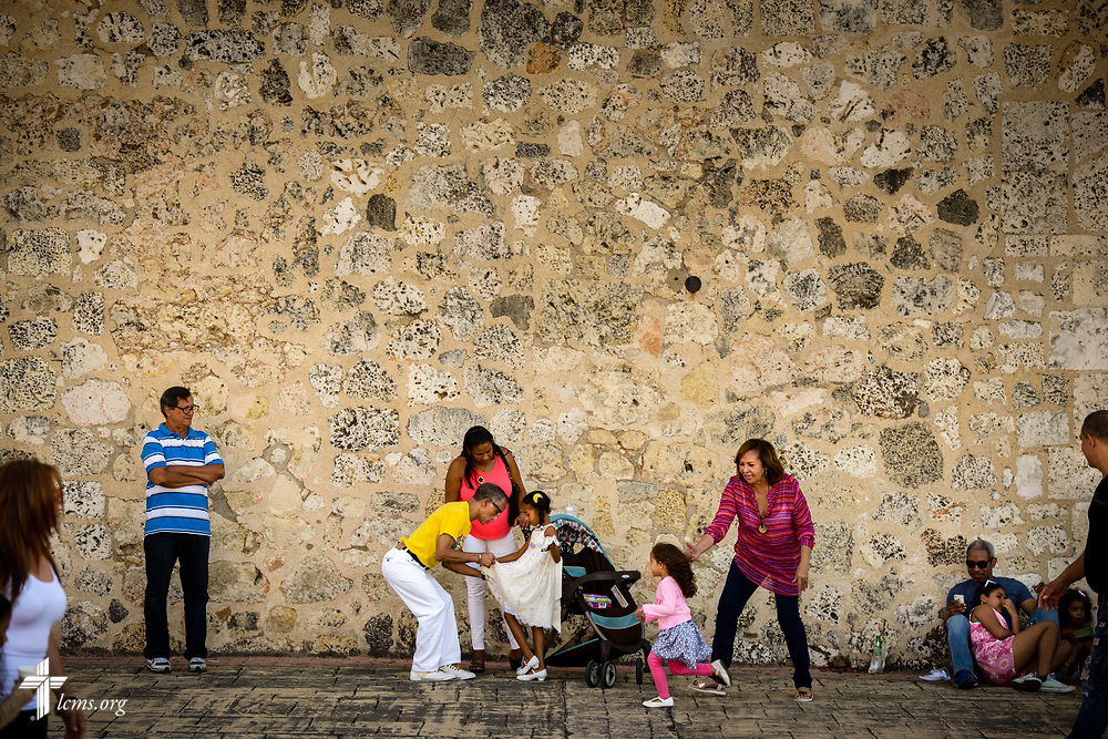 Street life in the colonial zone of Santo Domingo, Dominican Republic, on Sunday, March 19, 2017. LCMS Communications/Erik M. Lunsford
