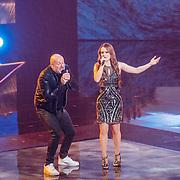 NLD/Hilversum//20170218 - Finale The Voice of Holland 2017, Paskal Jakobsen en Isabel Provoost