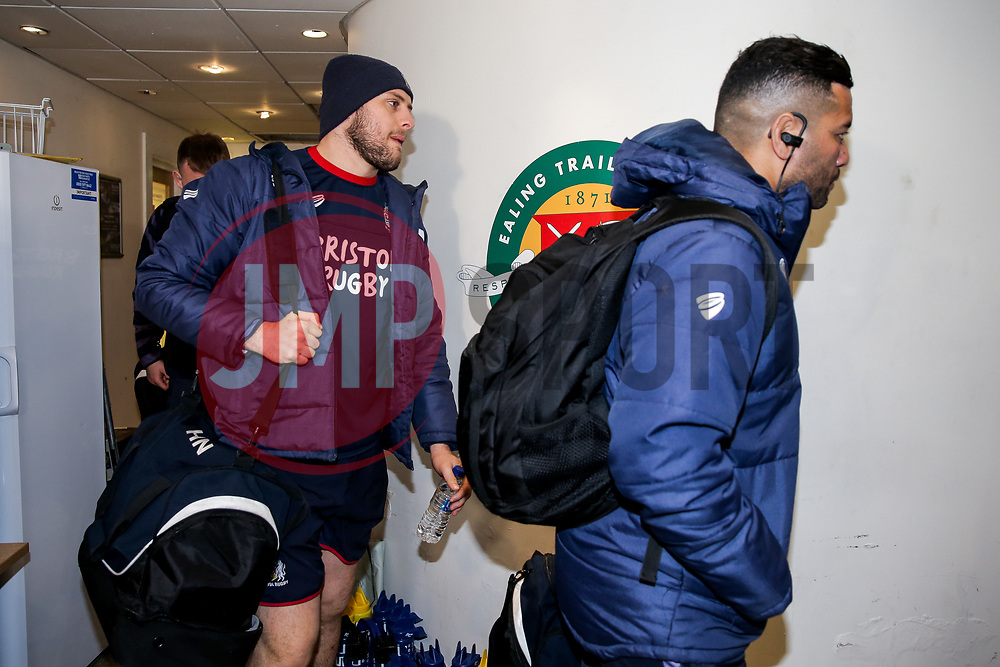 Nick Haining of Bristol Rugby arrives - Rogan/JMP - 10/02/2018 - RUGBY UNION - Trailfinders Sports Ground - Ealing Trailfinders v Bristol Rugby - Greene King IPA Championship.
