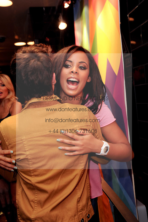 JOE McELDERRY and ROCHELLE WISEMAN at a party to celebrate the Firetrap Watches and Kate Moross Collaboration Launch, held at Firetrap, 21 Earlham Street, London, UK on 13th October 2010.