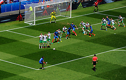 Dimitri Payet of France fires a free kick towards goal  - Mandatory by-line: Joe Meredith/JMP - 26/06/2016 - FOOTBALL - Stade de Lyon - Lyon, France - France v Republic of Ireland - UEFA European Championship Round of 16