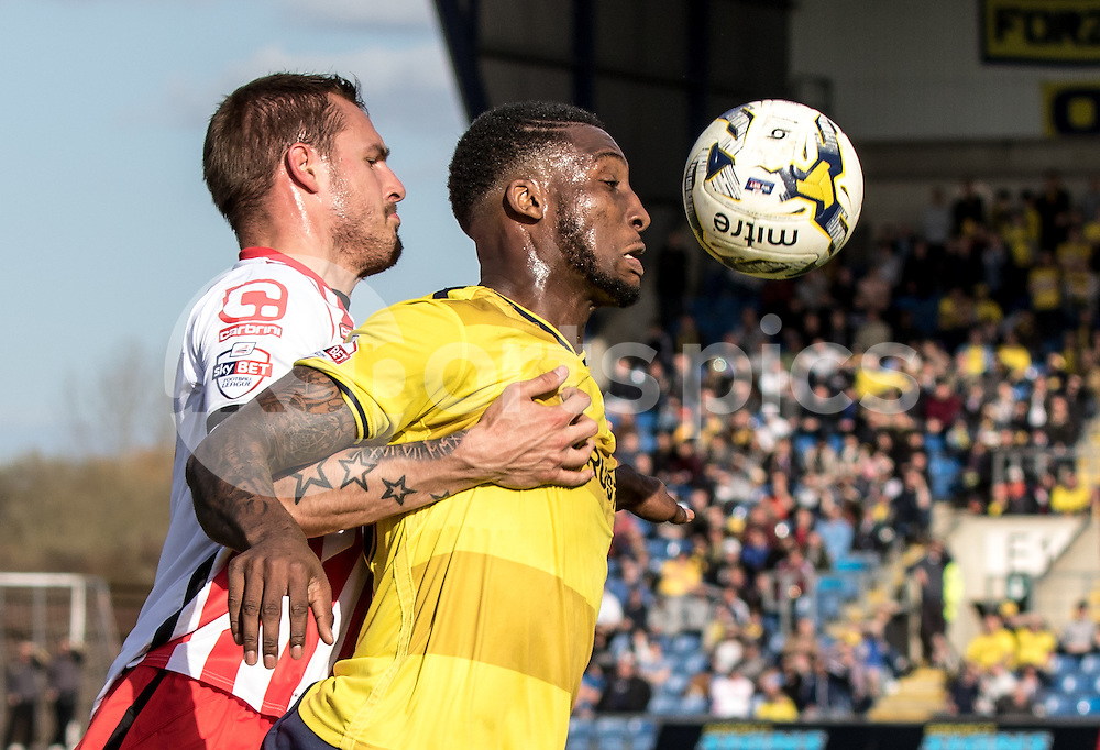 Cheyenne Dunkley of Oxford United during the Sky Bet League 2 match between Oxford United and Stevenage at the Kassam Stadium, Oxford, England on the 25th March 2016. Photo by Liam McAvoy.
