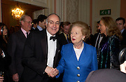 Michael Howard and Baroness Thatcher, Catherine de Medici by Leonie Frieda book party, English Speaking Union. 3 February 2004. © Copyright Photograph by Dafydd Jones 66 Stockwell Park Rd. London SW9 0DA Tel 020 7733 0108 www.dafjones.com