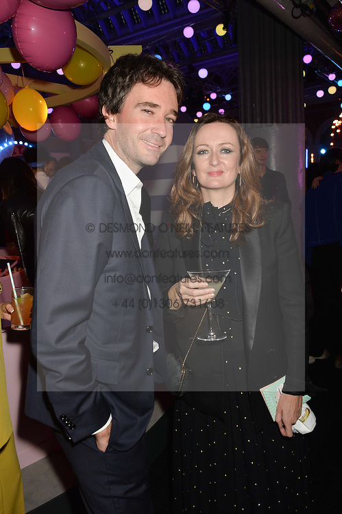 ANTOINE ARNAULT and LUCY YEOMANS at The Naked Heart Foundation's Fabulous Fund Fair hosted by Natalia Vodianova and Karlie Kloss at Old Billingsgate Market, 1 Old Billingsgate Walk, London on 20th February 2016.