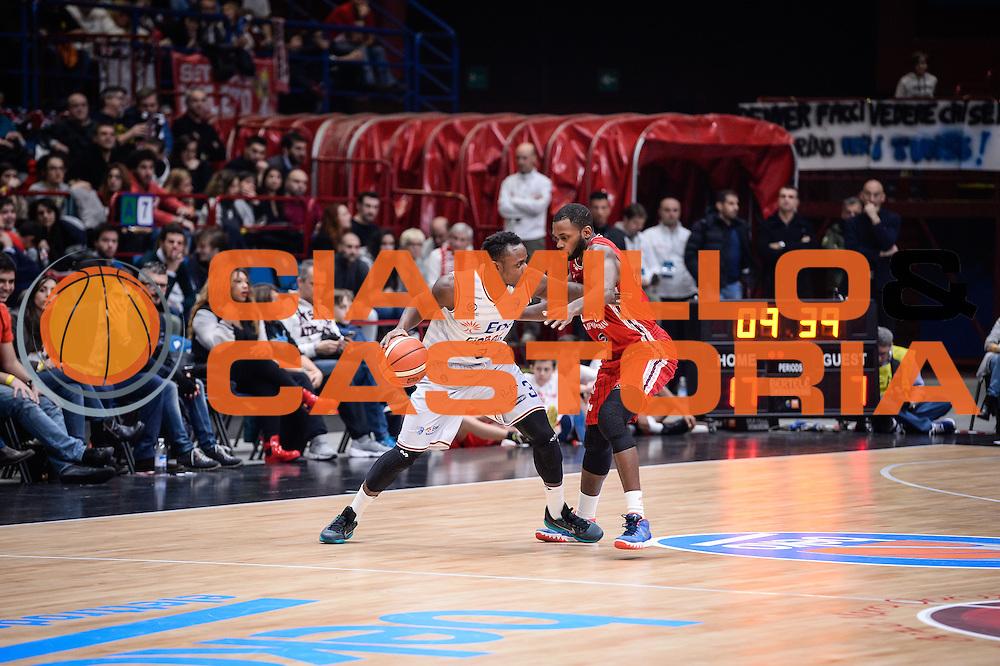 DESCRIZIONE : Milano Lega A 2015-16 <br /> GIOCATORE : David Reginald Cournooh<br /> CATEGORIA : Palleggio Controcampo<br /> SQUADRA : Enel Brindisi<br /> EVENTO : Campionato Lega A 2015-2016<br /> GARA : Olimpia EA7 Emporio Armani Milano Enel Brindisi<br /> DATA : 20/12/2015<br /> SPORT : Pallacanestro<br /> AUTORE : Agenzia Ciamillo-Castoria/M.Ozbot<br /> Galleria : Lega Basket A 2015-2016 <br /> Fotonotizia: Milano Lega A 2015-16