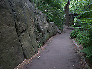 Rock formations at the  Ramble Stone Arch