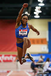 2020 USATF Indoor Championship<br /> Albuquerque, NM 2020-02-14<br /> photo credit: © 2020 Kevin Morris<br /> womens triple jump, new American Record, 14.64, Nike