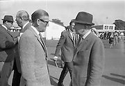 17/09/1968<br /> 09/17/1968<br /> 17 September 1968<br /> Goffs September Bloodstock sales at the RDS, Ballsbridge Dublin (2nd day). Picture shows Mr Archie Cook, Bloodstock Breeder Dublin and Mr Vincent O'Brien, trainer, Cashel, Co. Tipperary.