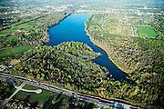 Aerials of Lake Fayetteville, Bentonville, Walmart Head Quarters, University of Arkansas Campus in Arkansas<br /> <br /> © Wesley Hitt 2015