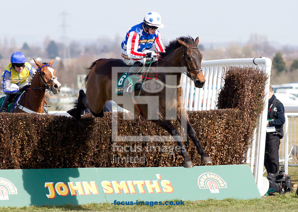 Picture by Michael Sedgwick/Focus Images Ltd +44 7900 363072.06/04/2013.Winners Special Tiara ridden by Bryan Cooper during the The John Smith's Maghull Novices Steeple Chase on the John Smith's John Smith's Grand National Day, at Aintree Racecourse, Aintree.