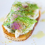 Crab toast with fennel aioli, avocado, radish top-mint vinaigrette on semolina bread at Launderette Cafe in East Austin on Tuesday, May 26, 2015. Lukas Keapproth/AMERICAN-STATESMAN