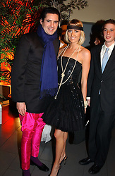 MR EDWARD TAYLOR and LADY EMILY COMPTON at Andy & Patti Wong's Chinese New Year party to celebrate the year of the Rooster held at the Great Eastern Hotel, Liverpool Street, London on 29th January 2005.  Guests were invited to dress in 1920's Shanghai fashion.<br />