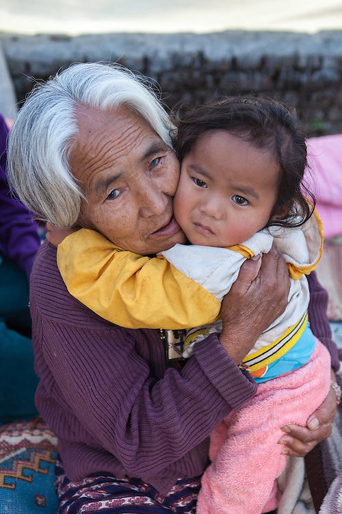 Sange Lama (15months,m) and grandmother Jemu Lama (72)