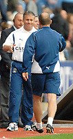 Photo: Ed Godden.<br />Coventry City v Plymouth Argyle. Coca Cola Championship. 30/09/2006. Coventry Manager Micky Adams (L) congratulates Plymouth Manager Ian Holloway on his teams win.