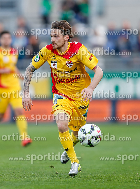 10.04.2015, Reichshofstadion, Lustenau, AUT, 2. FBL, SC Austria Lustenau vs KSV 1919 27. Runde, im Bild David Harrer, (KSV 1919, #07)// during Austrian Second Bundesliga Football Match, 27th round, between SC Austria Lustenau vs KSV 1919 at the Reichshofstadion, Lustenau, Austria on 2015/04/10. EXPA Pictures © 2015, PhotoCredit: EXPA/ Peter Rinderer