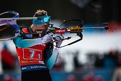 Emilien Jacquelin (FRA) finishing the Single Mixed Relay 6 km / 7,5 kmn at day 3 of IBU Biathlon World Cup 2019/20 Pokljuka, on January 23, 2020 in Rudno polje, Pokljuka, Pokljuka, Slovenia. Photo by Peter Podobnik / Sportida
