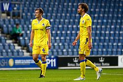 Tom Lockyer of Bristol Rovers and Edward Upson of Bristol Rovers - Mandatory by-line: Ryan Hiscott/JMP - 28/08/2018 - FOOTBALL - Loftus Road - London, England - Queens Park Rangers v Bristol Rovers - Carabao Cup