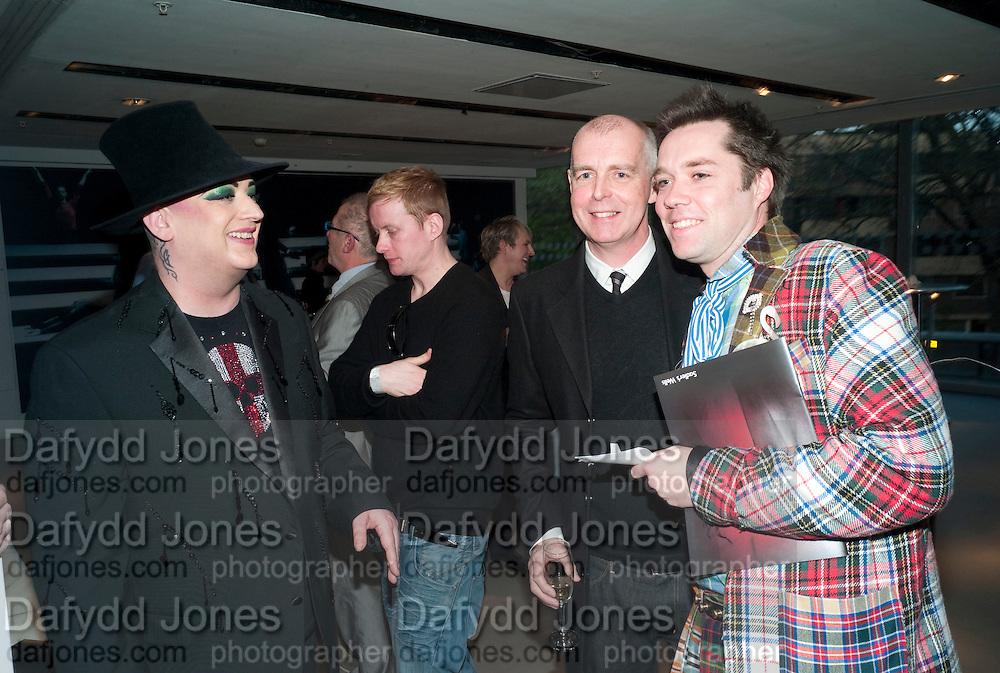 BOY GEORGE; NEIL TENNANT; RUFUS WAINWRIGHT, Prima Donna opening night. Sadler's Wells Theatre, Rosebery Avenue, London EC1, Premiere of Rufus Wainwright's opera. 13 April 2010