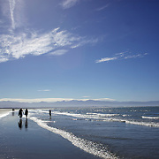 Late afternoon in Summer at Tahunanui Beach, Nelson, South Island, New Zealand.  1st February 2011. Photo Tim Clayton