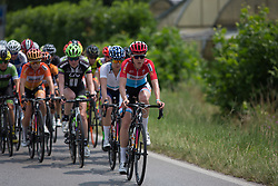 Christine Majerus (LUX) of Boels-Dolmans Cycling Team leads the peloton during the Giro Rosa 2016 - Stage 1. A 104 km road race from Gaiarine to San Fior, Italy on July 2nd 2016.