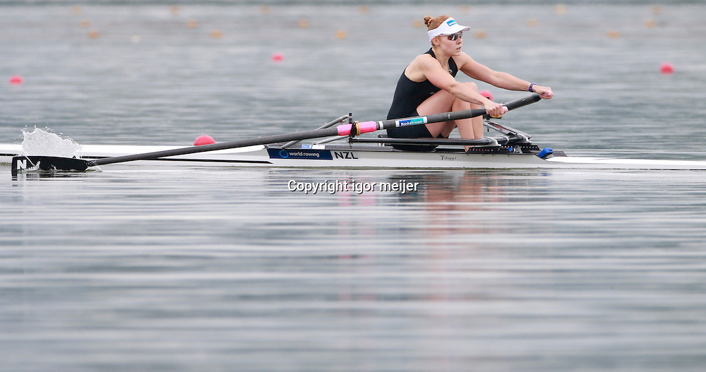 NZL Jackie Kiddle, New Zealand Team, U23 World Rowing Champoinships, Varese, Italy. 24 July 2014. Photo: Igor Meijer/www.photosport.co.nz