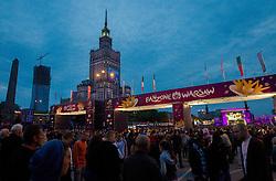 07-06-2012 VOETBAL: FANZONE EURO 2012 WARSAW: POLAND<br /> Fan zone in Warsaw a day before the beginning of Euro 2012 Poland-Ukraine<br /> ***NETHERLANDS ONLY***<br /> ©2012-FotoHoogendoorn.nl/Vid Ponikvar