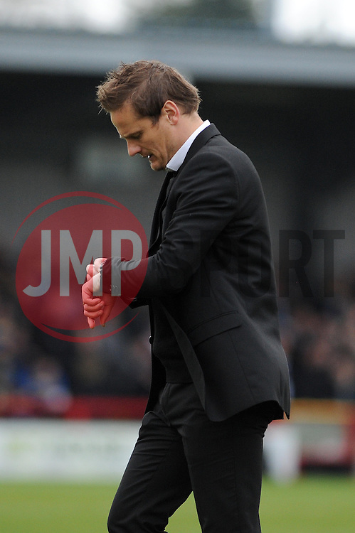 AFC Wimbledon Manager, Neal Ardley - Photo mandatory by-line: Dougie Allward/JMP - Mobile: 07966 386802 05/04/2014 - SPORT - FOOTBALL - Kingston upon Thames - Kingsmeadow - AFC Wimbledon v Bristol Rovers - Sky Bet League Two