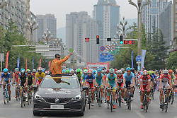 September 13, 2016 - Pingchang, China - A start to the fourth stage, 157.57 km from Bazhong to Pingchang, during the 2016 Tour of China 1...On Tuesday, 13 September 2016, in Pingchang, China. (Credit Image: © Artur Widak/NurPhoto via ZUMA Press)