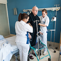 Helping a patient out of bed