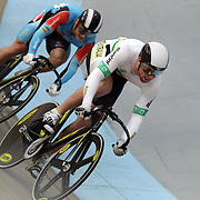 Peter Lewis, Australia, in action during the Men Keiran at the 2012 Oceania WHK Track Cycling Championships, Invercargill, New Zealand. 21st November 2011. Photo Tim Clayton