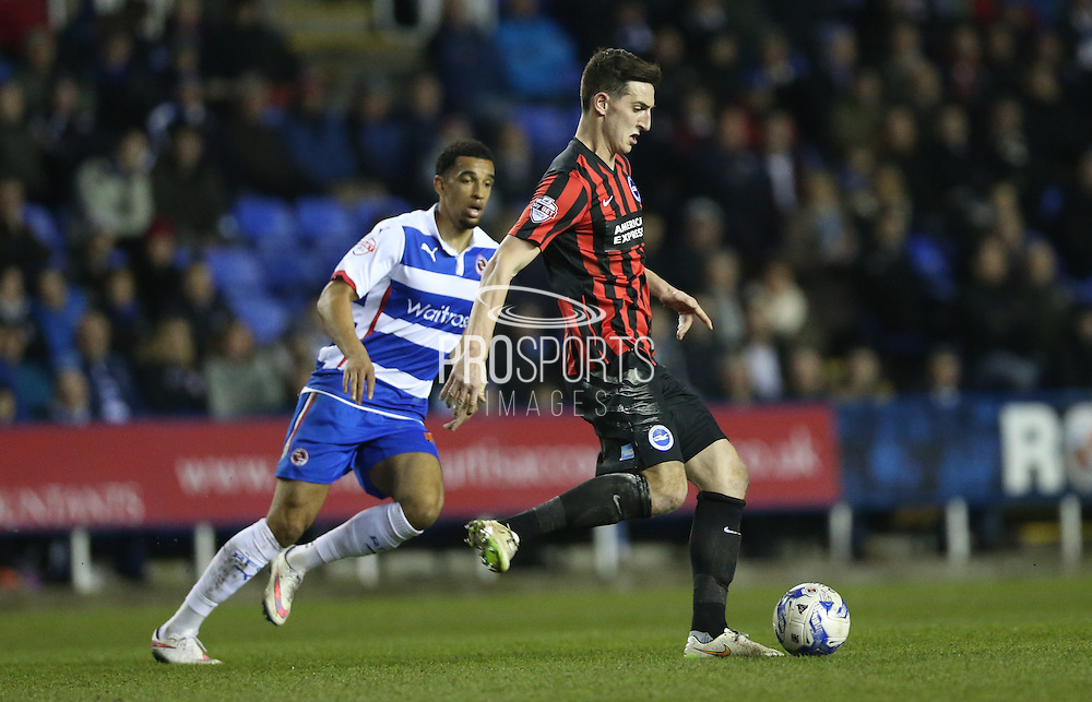 Lewis Dunk, Brighton defender during the Sky Bet Championship match between Reading and Brighton and Hove Albion at the Madejski Stadium, Reading, England on 10 March 2015.