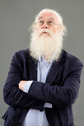 """Edinburgh, Scotland, UK; 15 August, 2018. Pictured; Irving Finkel. Finkel is an expert reader of cuneiform inscriptions on clay tablets and a British Museum scholar. His book, """"The Writing in the Stone"""", is a work of bloodcurdling fiction set in Mesopotamia and inspired by a fractured piece of stone that resembles a cuneiform stone."""