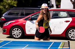 Kaja Juvan during ATP Challenger Zavarovalnica Sava Slovenia Open 2017, on August 12, 2017 in Sports centre, Portoroz/Portorose, Slovenia. Photo by Vid Ponikvar / Sportida