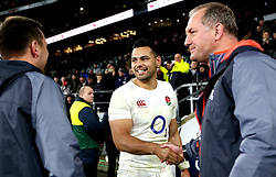 Ben Te'o of England smiles at full time after scoring the winning try against France - Mandatory by-line: Robbie Stephenson/JMP - 04/02/2017 - RUGBY - Twickenham - London, England - England v France - RBS Six Nations