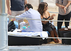Eva Longoria Kissing husband Josè Baston on their wedding anniversary. 23 May 2017 Pictured: Eva Longoria. Photo credit: Ale / MEGA TheMegaAgency.com +1 888 505 6342