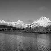 Grand Tetons - Oxbow Bend, WY - Black & White