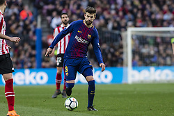 March 18, 2018 - Barcelona, Spain - BARCELONA, SPAIN - MARCH 18: 03 Gerard Pique from Spain of FC Barcelona during La Liga match between FC Barcelona v Atletic de Bilbao at Camp Nou Stadium in Barcelona on 18 of March, 2018. (Credit Image: © Xavier Bonilla/NurPhoto via ZUMA Press)