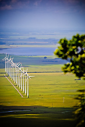 Parque eólico de Osório visto a partir do Morro da Borússia. Foto: Marcos Nagelstein/ Agência Preview