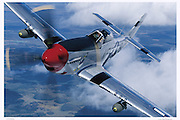 P-51D Mustang aerial photography, close up