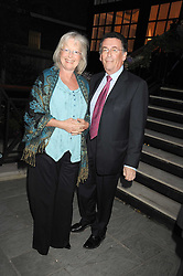 ROBERT & BABS POWELL at the Goring Hotel Summer party, Goring Hotel, 15 Beeston Place, London on 17th September 2008.