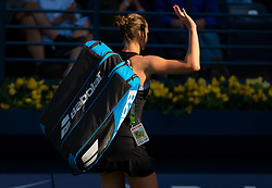 February 21, 2019 - Dubai, ARAB EMIRATES - Karolina Pliskova of the Czech Republic in action during her quarter-final match at the 2019 Dubai Duty Free Tennis Championships WTA Premier 5 tennis tournament (Credit Image: © AFP7 via ZUMA Wire)
