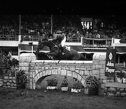 07/08/1980<br /> 08/07/1980<br /> 07 August 1980<br /> R.D.S. Horse Show: John Player International, Ballsbridge, Dublin.  Armand Leone (U.S.A.) on &quot;Encore&quot;.