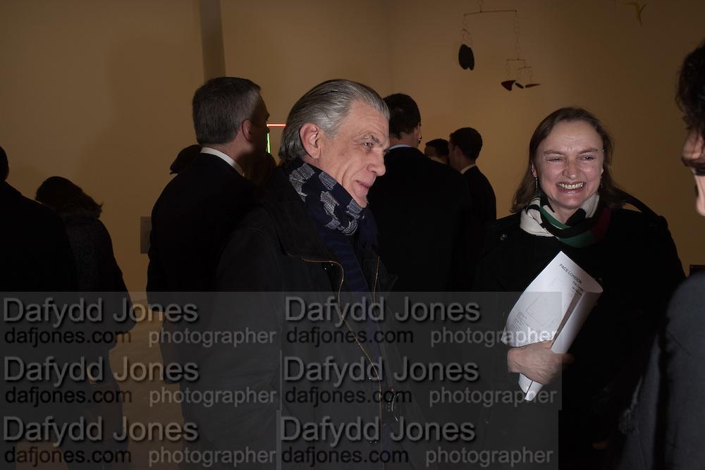 GARY COOPER; HARRIET VYNER, Pace London presents The Calder Prize 2005-2015, Burlington Gardens, London.  Thursday 11 February 2016,
